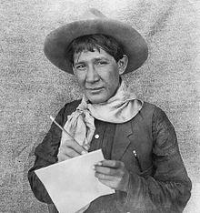 Absentee-Shawnee Artist Earnest Spybuck, circa 1910