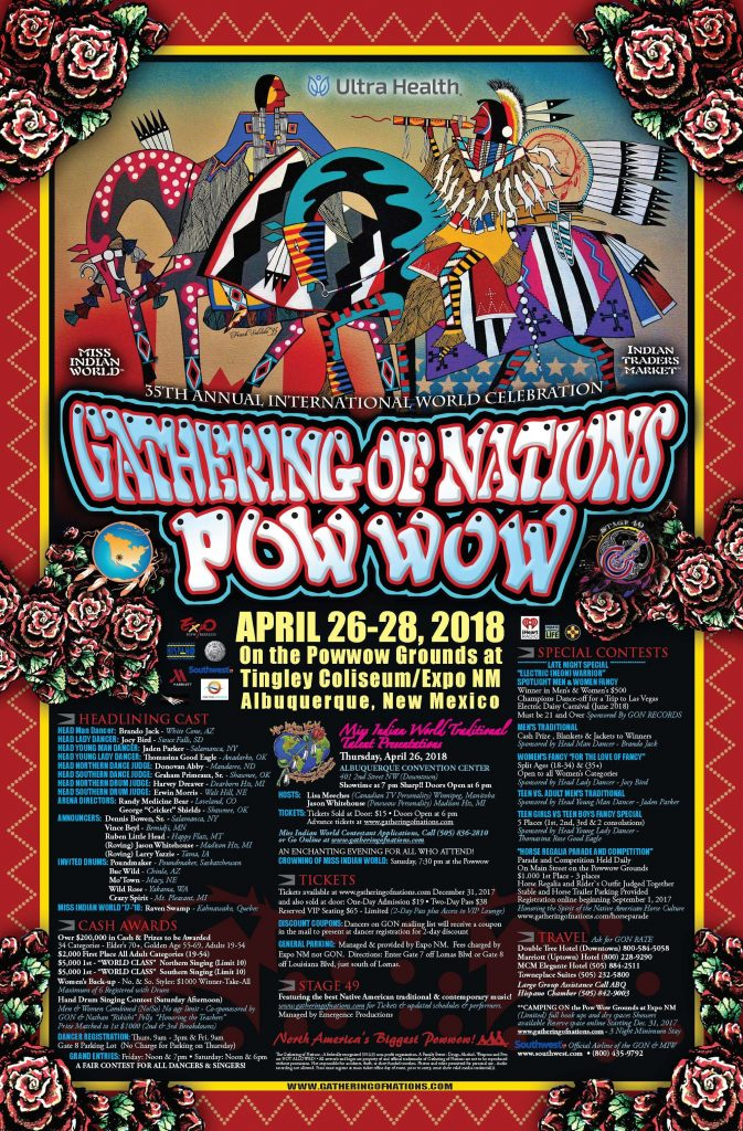 2018 Gathering of Nations Pow Wow Poster