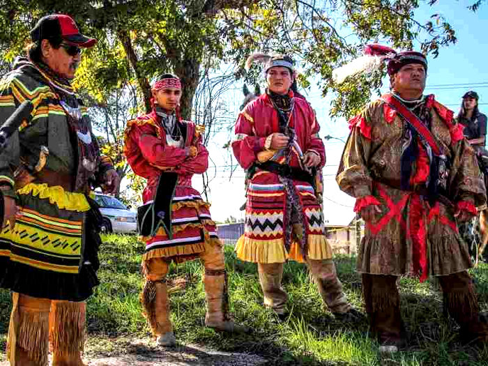 Seminole Men in Traditional Clothing